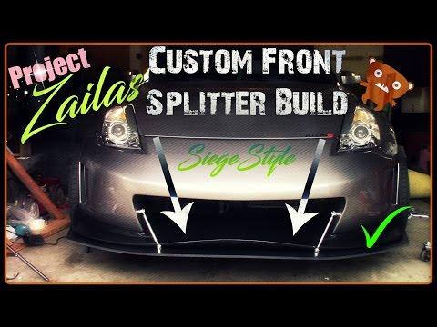 PZ Z33 350Z: Custom Front Splitter Build & Install!