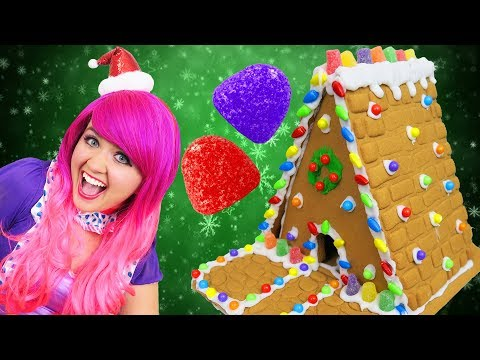 Let's Make A Gingerbread House! | DIY Christmas Gingerbread Cookie Candy House | KiMMi THE CLOWN