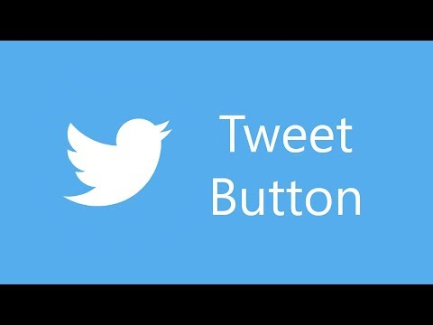 Tweet button with Pure JavaScript, CSS and HTML