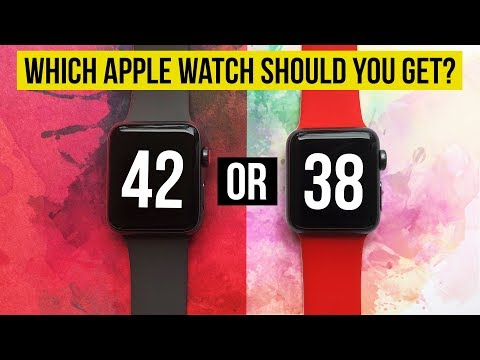 38mm or 42mm | Which Apple Watch ⌚️ is right for you? | Series 3 Series 2 Series 1 | 4K