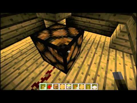 Minecraft - How To Make A Light Switch With Redstone Lamp (1.5.1)