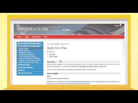 How to Apply for an American Visa (English)