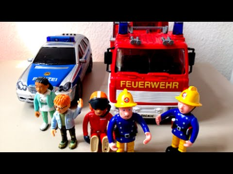 Fireman Sam Fire truck with Police Car and Fire truck