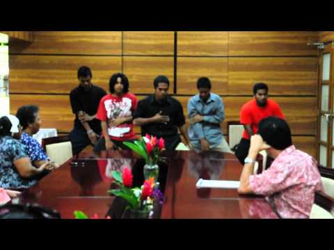 Youth visiting FSM President Mori June 2013