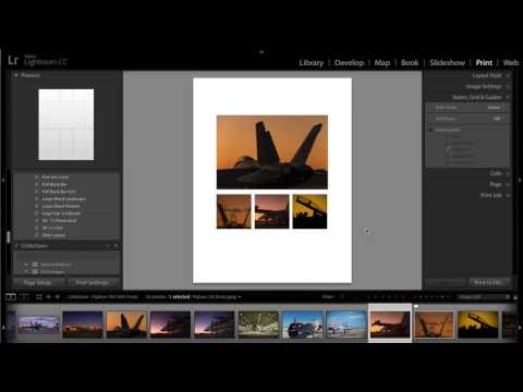 Designing a 1+3 Layout Custom Lightroom Print Template