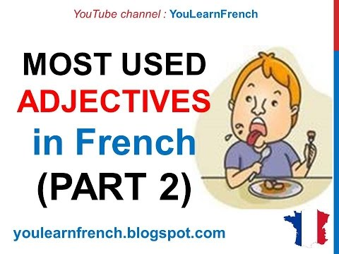 French Lesson 242 - 100 Most common ADJECTIVES in French PART 2 Must know Most used basic words