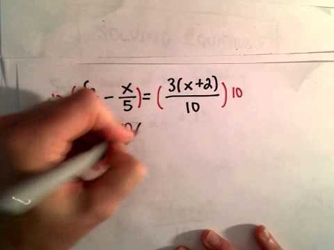 Solving a Linear Equation with Variables on Both Sides of the Equation, Ex 3