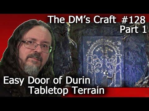 LotR Doors of Durin Easy Moria Terrain (DM's Craft 128/part1)