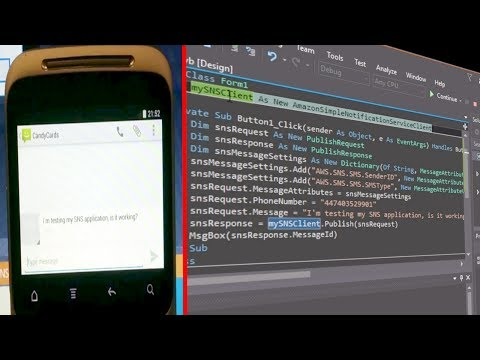 How to send a text message using Visual Studio Visual Basic (VB.net) and Amazon's AWS SNS SMS API