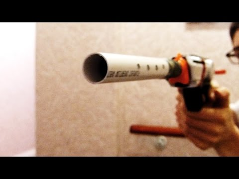 How To Make A Working Nerf Silencer/Suppressor For Homemade Blasters
