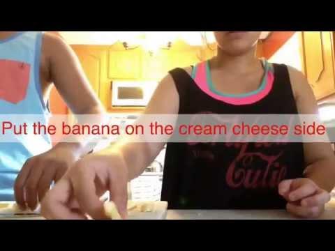 How to make banana stuff cream cheese stuffed French toast✌️