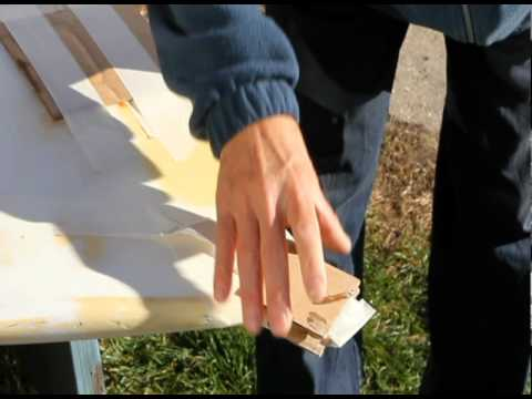 How to repair a Laser dinghy daggerboard and rudder foils