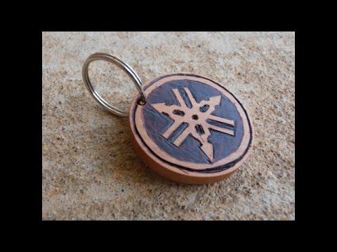Making a Wooden Yamaha Emblem Keychain