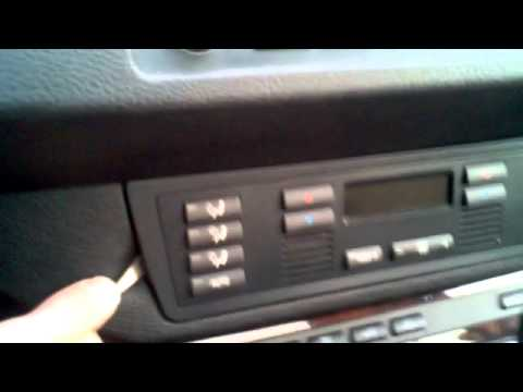 BMW X5 Heater Control Panel Removal And Installation Instructions Procedure E53