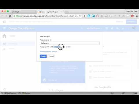 Creating a new Google App Engine (GAE) Project