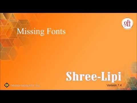 Missing Fonts