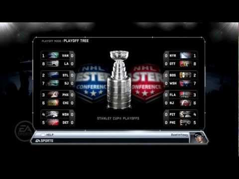 NHL 12 Stanley Cup Playoff Sim 2012: Round 1... Fight!