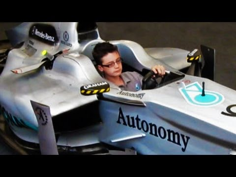 Kid controlling an F1 Car!!! [Watch in HD]