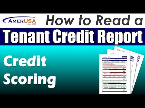 Credit Scoring - How to Read a Tenant Credit Report (Professional Landlords)