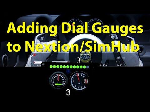 Adding dial gauges to Nextion TFT HMI for SimHub - PlayingItNow: All