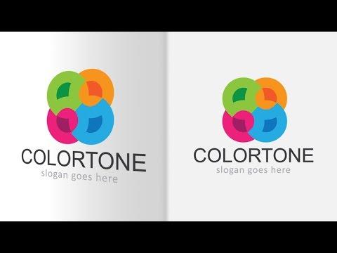 Illustrator Tutorial - Colorful Logo Design