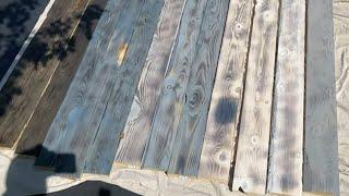 DIY weathered wood