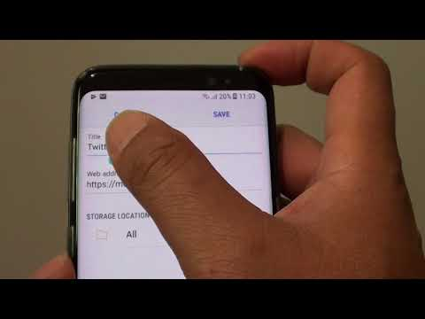 Samsung Galaxy S8: How to Add a Webpage to Bookmarks