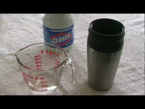 How to clean a stainless steel travel mug