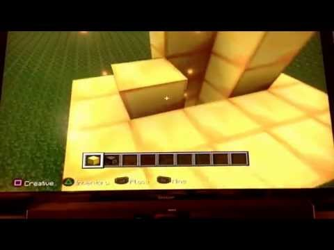 How to make flaming arrows in minecraft PS3