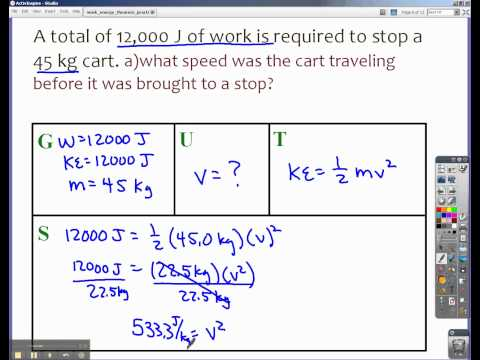Finding Velocity when Given Work Done and Mass