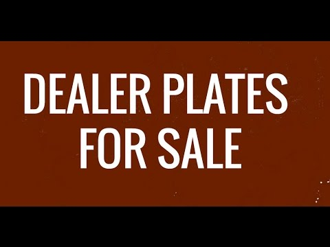 dealer plates