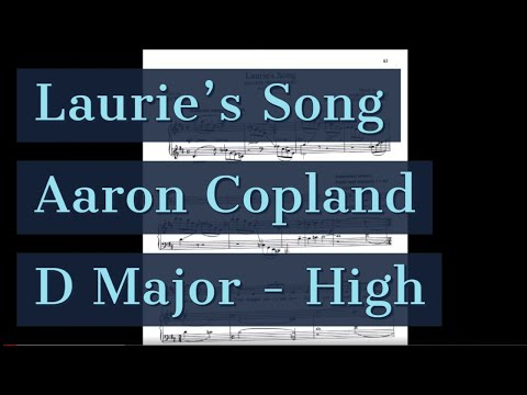 Laurie's Song Piano Accompaniment The Tender Land Copland Karaoke High Key