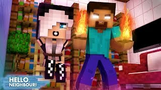 Minecraft HELLO NEIGHBOR - O HEROBRINE CAPTUROU A MIA | EP 27