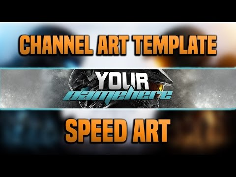FREE Halo 5 Themed Channel Art Template! (Speed Art & Download)