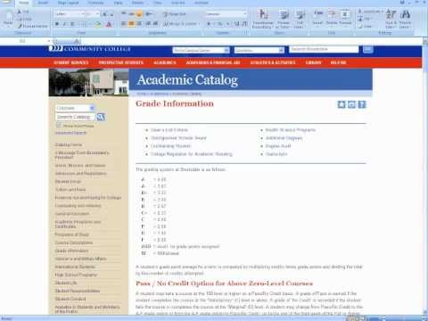 Calculating Your Grade Point Average (GPA)