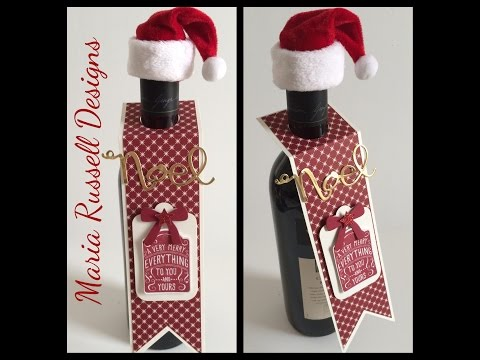 Create Your Own Festive Wine Tag (Tutorial)