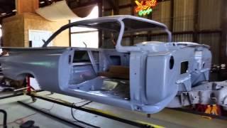 Marty building his impala