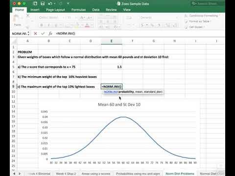 Statistics - Normal Dist Top n% or Bottom n%