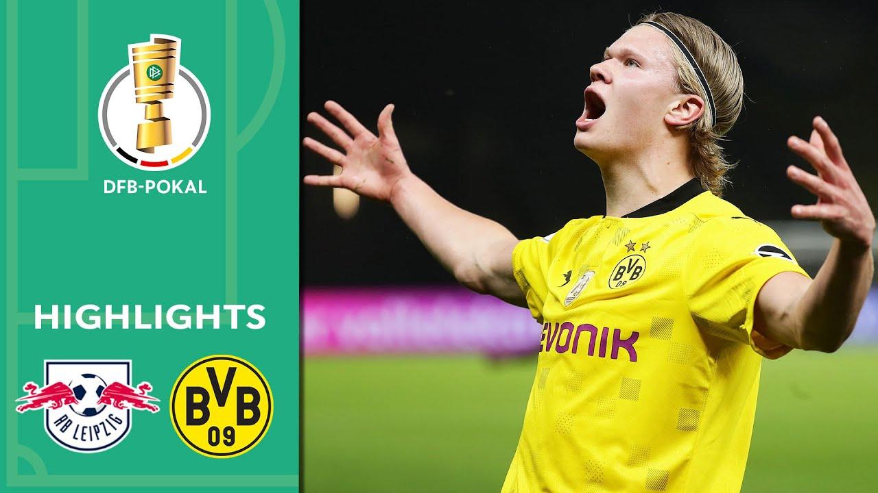 Haaland, Sancho & Co. unstoppable   Leipzig vs. Borussia Dortmund 1-4   Highlights   DFB-Pokal Final
