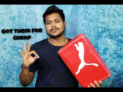 UNBOXING: Puma SNEAKER (Got Them For Cheap) Hindi