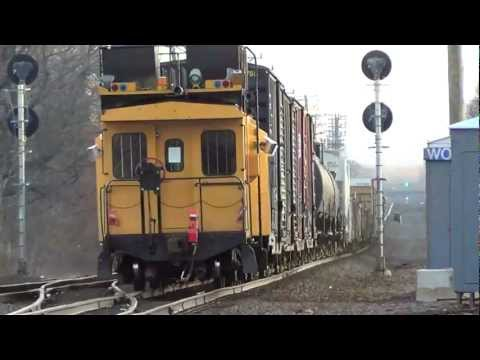 HD: Trains on Amtrak's Springfield Line in West Hartford, CT 3/21/12
