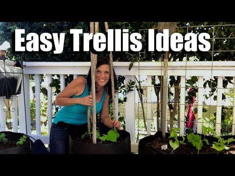 Easy, Inexpensive, DIY, Trellis Ideas, Growing Vertically, GIVEAWAY!//Small Space Garden Series #3