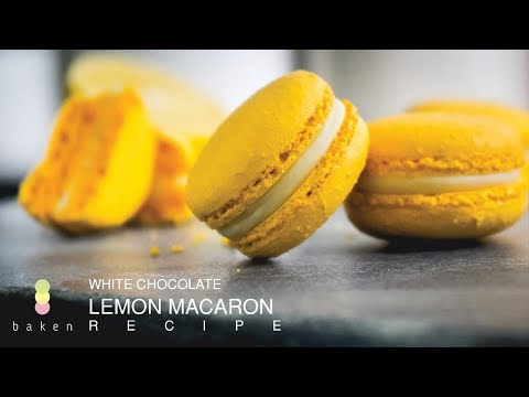 White Chocolate Lemon MACARON Recipe (Italian Method) | BAKEN