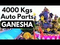 Elephant God GANESHA sculpture from 4000Kgs of Auto Parts