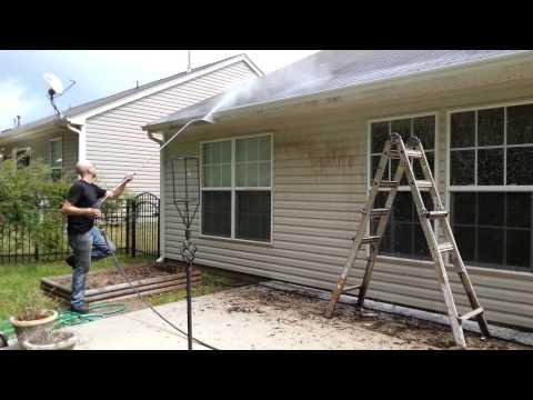 House power washing, gutter black streaks/siding