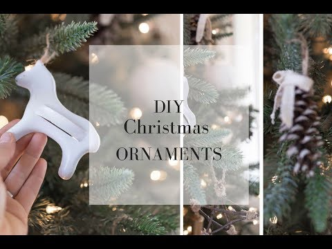 DIY Christmas Ornaments 2017 Pine Cone and Vintage Cookie Cutter Ornaments