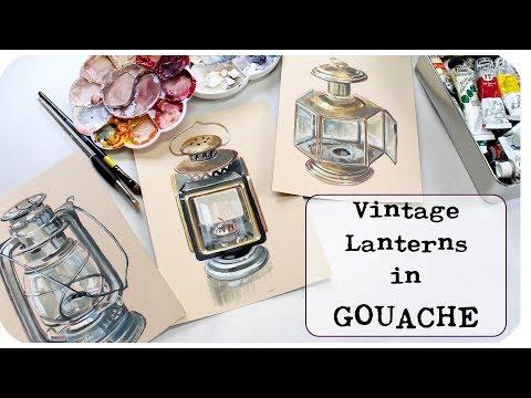 Gouache Vintage Lanterns