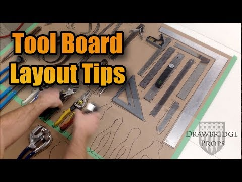 How to Layout a Shop Tool Board  - Quick and Easy Tip
