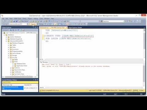 Microsoft SQL Server 70-462 Tutorial | Creating Database Users