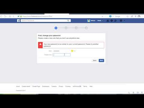 How to Change A FB Password without Knowing Current Password macro channel